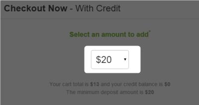クレジットカードのチャージ