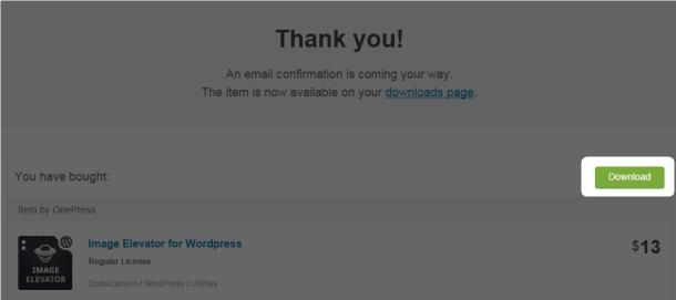 OnePress Image Elevator zipファイルのダウンロード