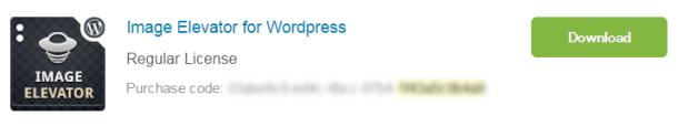 OnePress Image Elevatorメール中にあるダウンロードボタン
