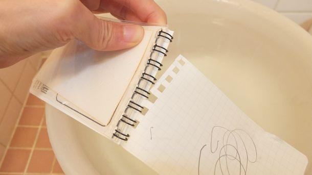防水メモ帳
