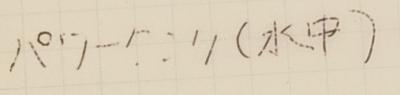 パワータンクボールペンでオキナ防水メモに水中で書いたところ