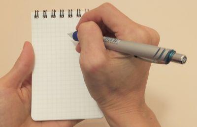 メモ帳とシャーペン