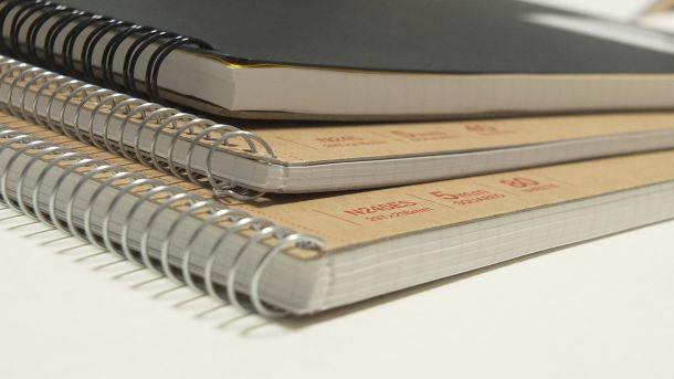 無印良品ノートブックb5 6 mmルール30sheets – パックof 5books [ 5colors Binding