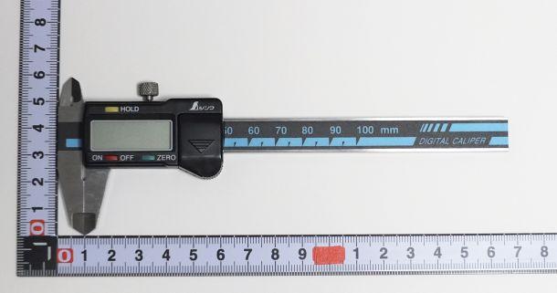 デジタルノギスサイズ