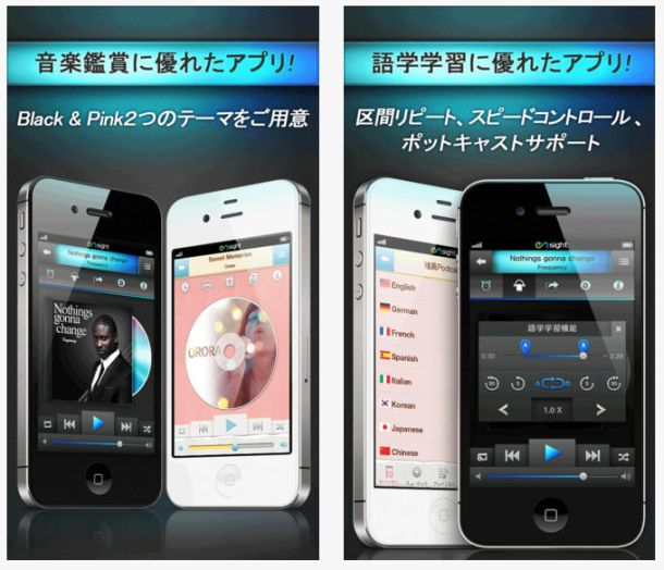 音楽再生iPhoneアプリ