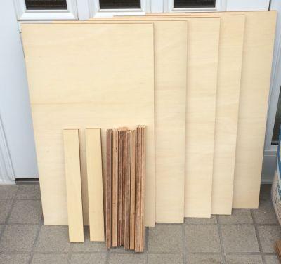 木材を切り出した部品