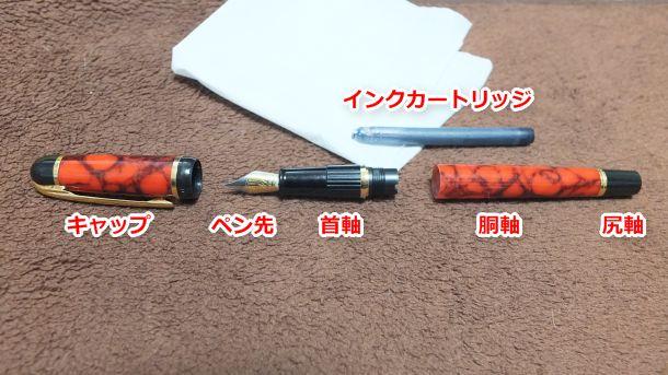 万年筆の分解
