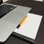 ニーモシネのメモ帳N162と鉛筆を使うととっさのメモにいつでも対応できるのでおすすめ