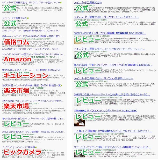 Google検索とノイズレスサーチの比較