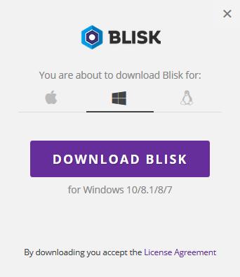 Blisk OSの選択