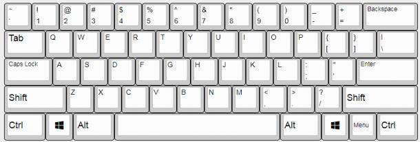 Realforce英語配列のキー配列