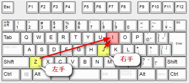 ziとji、打ちやすいほうで打つ最適化。